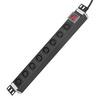 Gowone 购旺 PDU机柜插座IEC标准插排接线板铝合金1U总控开关 8位3米 C13插孔 10A国标头 I101