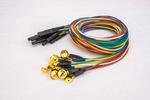 脑电电极金盘盘状脑电电极线1.5/2.0/2.5m