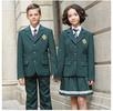 春秋長袖學生墨綠色西裝校服套裝定做