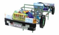 透明或实物解剖全车制动系统模型,桑塔纳2000型整车教学模型
