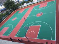 泸州达州资中资阳威远硅PU篮球场EPDM网球场学校运动球场塑胶跑道