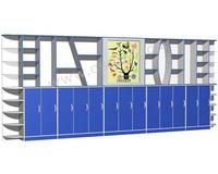青之源小学科学实验室之展示墙