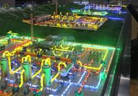 長沙科威模型提供天然氣長輸管道一體化實訓裝置動態演示模型KWYQ-SX15米X4米