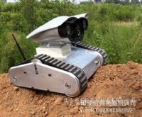 载有摄像头的三角式履带机器人(原野外侦察机器人)