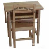 幼兒園家具-實木學前課桌