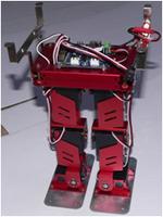 小型雙足機器人,防撞減震翻滾支撐,可以作為機器人研究、二次開發的平臺,并可參加各類機器人比賽,尤其是Robocup大賽