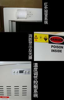 带温控毒品柜