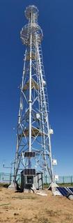 自立式气象铁塔