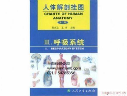 人体解剖学彩色图谱、呼吸系统挂图