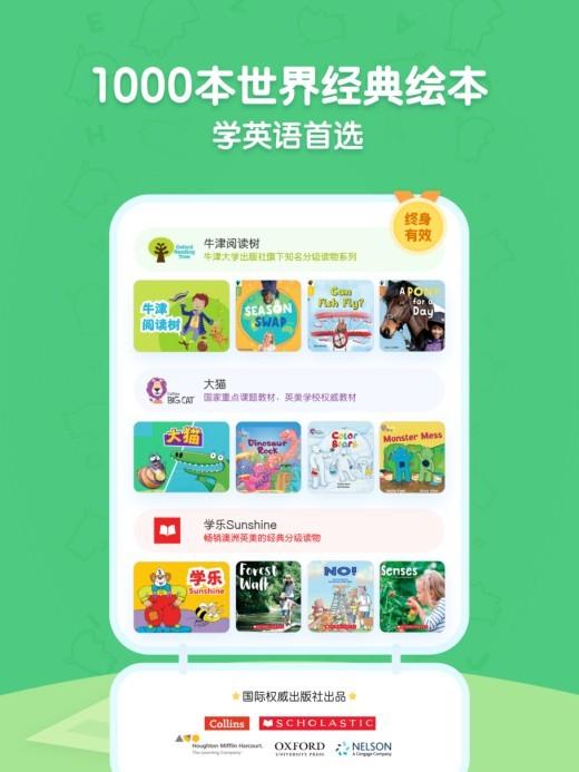 呱呱阅读智能规划聚焦少儿英语阅读兴趣,千本原版读物更懂孩子