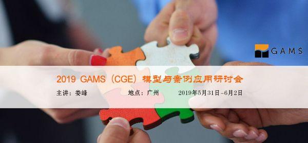 2019 GAMS(CGE)模型与案例应用研讨会
