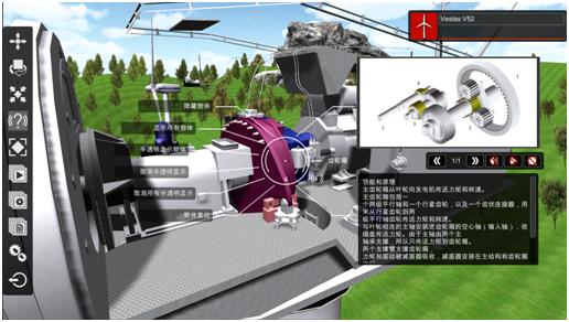 风力发电机组三维解剖式仿真培训系统
