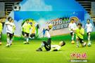 北京市校园足球文化节在大学生体育馆举行