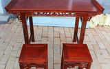 仿古实木国学桌马鞍桌书法书画桌琴桌中式学生桌培训桌儿童教学桌
