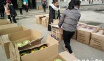 颍东职教中心向口孜中心校赠送体育器材
