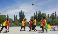 东北大学研支团开展篮球社团活动