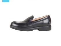 HTS康任中小学生校园鞋黑色牛皮鞋HTS07-2防滑舒适