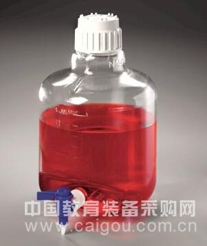 Nalgene 带放水口透明细口大瓶2317-0020 2317-0050