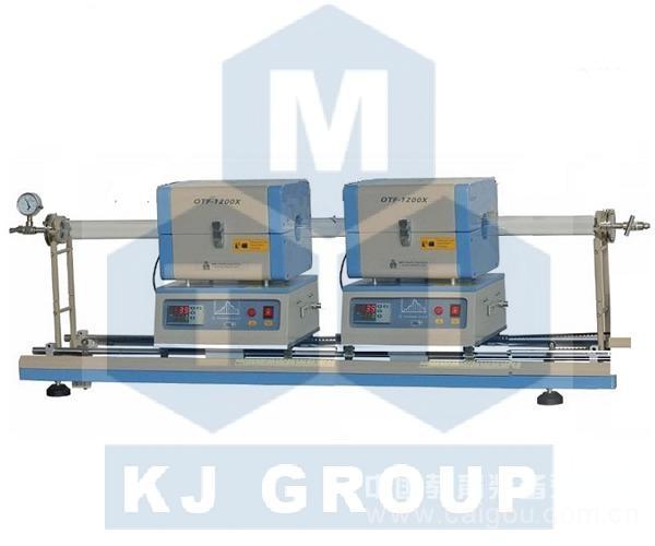 OTF-1200X-S2-50SL 小型的雙爐體滑動管式爐