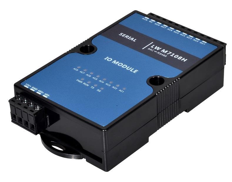 交流電采集器 220V轉485 交流電轉開關量,220V轉干接點 開關量輸入輸出模塊 開關量采集模塊