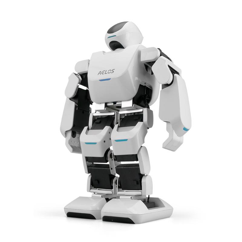樂聚AELOS小艾智能仿人16自由度人形機器人,手機APP控制編程語音交互唱歌跳舞,娛樂版專業版教育版