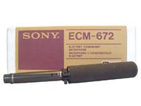索尼ECM-672 采访话筒 有线话筒