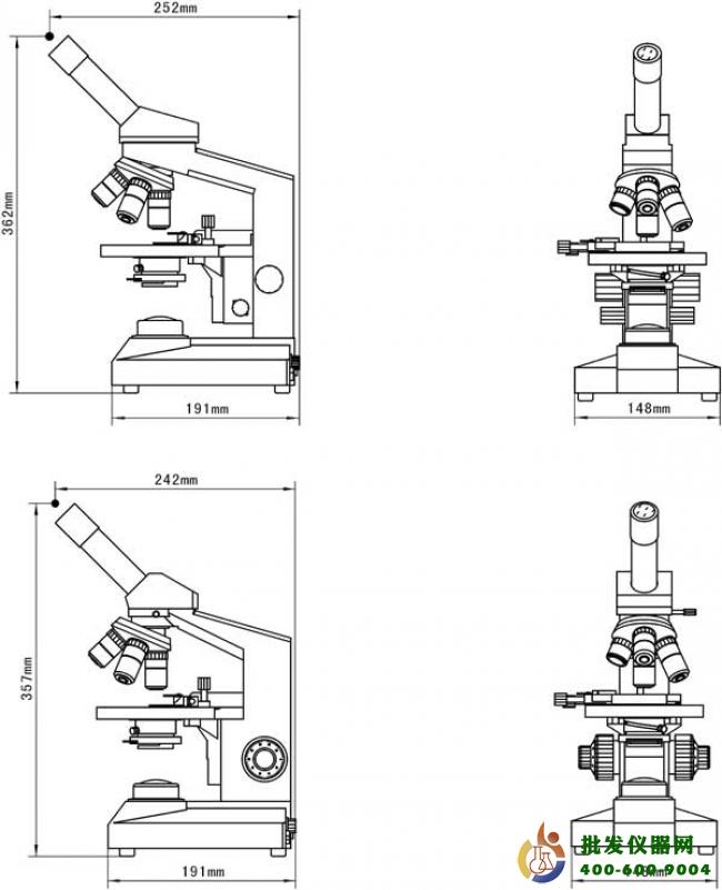 单目生物显微镜XSP-200